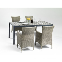 Garden Wicker PS Wood Dining Table Outdoor Patio Furniture